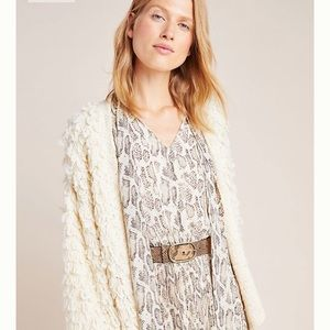 Anthropologie Olivia Snake-Printed Midi Dress